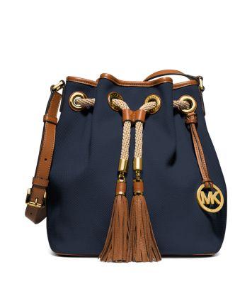 5a64fb76fd89 Marina Large Canvas Shoulder Bag | Michael Kors