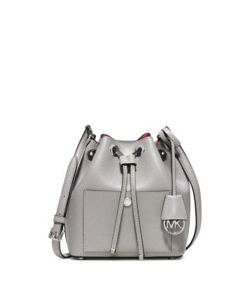 26c7c4f489b6 Greenwich Small Saffiano Leather Bucket Bag | Michael Kors