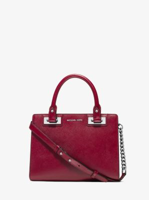 2b55bfdcbdce Quinn Small Patent Saffiano Leather Satchel