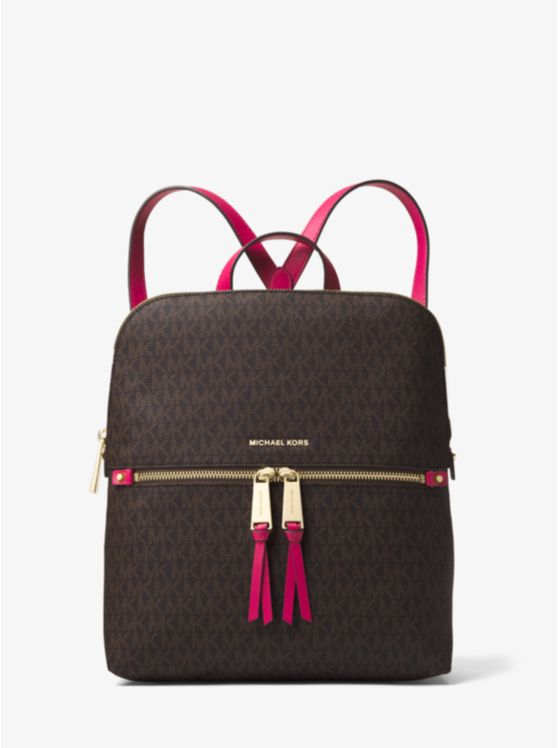 Rhea Medium Slim Logo Backpack