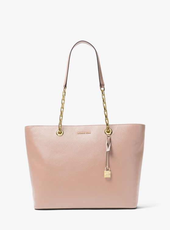 Mercer Chain-Link Leather Tote