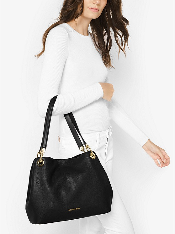 f713bc25417b Raven Large Leather Shoulder Bag | Michael Kors