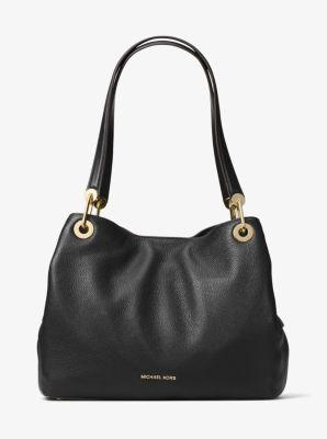 2db0e562a4f9 Raven Large Leather Shoulder Bag | Michael Kors