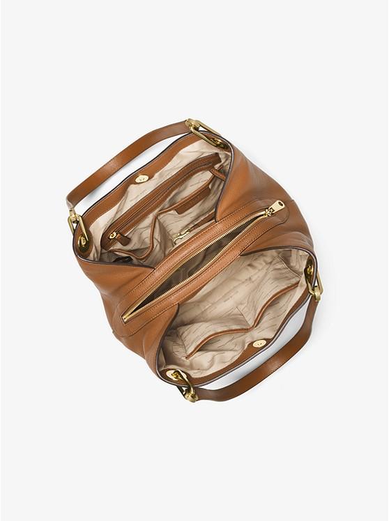 Raven Large Leather Shoulder Bag ACORN