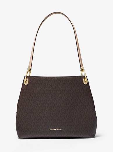 latest collection official supplier shop for genuine Raven Logo Shoulder Bag | Michael Kors