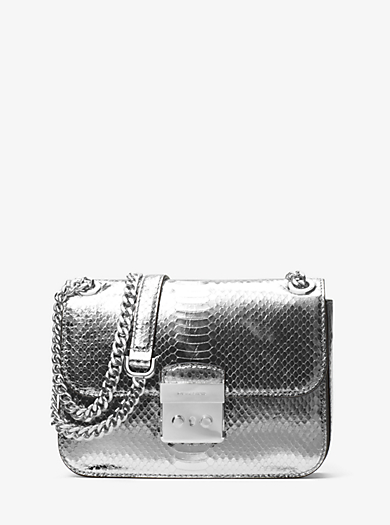 Sloan Editor Medium Embossed-Leather Shoulder Bag. michael michael kors ...
