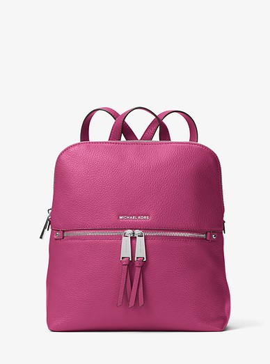 28567863e1dc Rhea Medium Slim Leather Backpack | Michael Kors