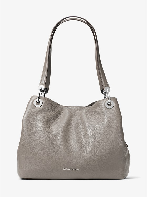 2db0e562a4f9 Raven Large Leather Shoulder Bag | Michael Kors