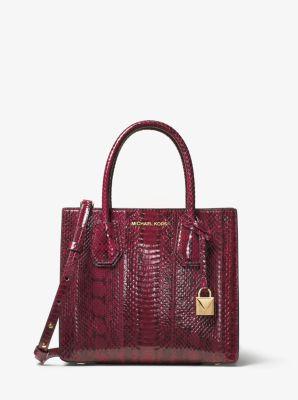 395b5c37e6df Mercer Medium Snakeskin Crossbody Bag