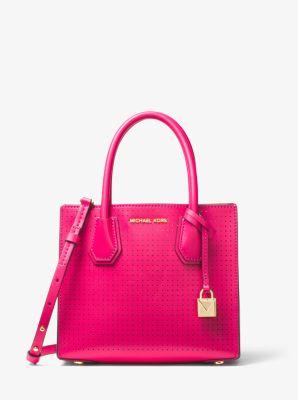 bdebc0440330f0 Mercer Perforated Leather Crossbody Bag | Michael Kors