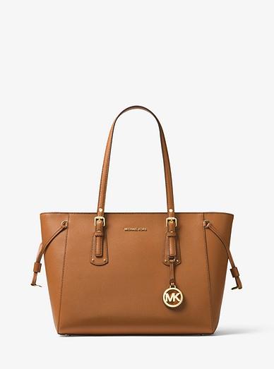 eee2735c46c141 Voyager Medium Crossgrain Leather Tote Bag | Michael Kors