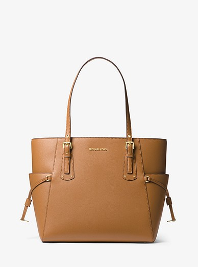 0c03c365911d Voyager Small Crossgrain Leather Tote Bag | Michael Kors