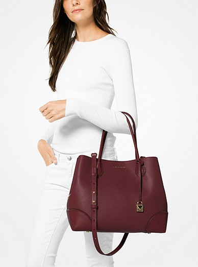84b86a9a56c21 Mercer Gallery Large Leather Satchel. Mercer Gallery Large Leather Satchel. MICHAEL  Michael Kors