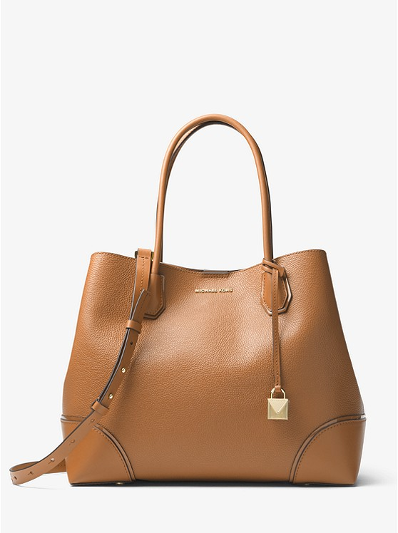 1ea63939e5c7ee Mercer Gallery Large Leather Satchel | Michael Kors