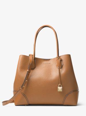 786ab2bb07f Mercer Gallery Large Leather Satchel | Michael Kors
