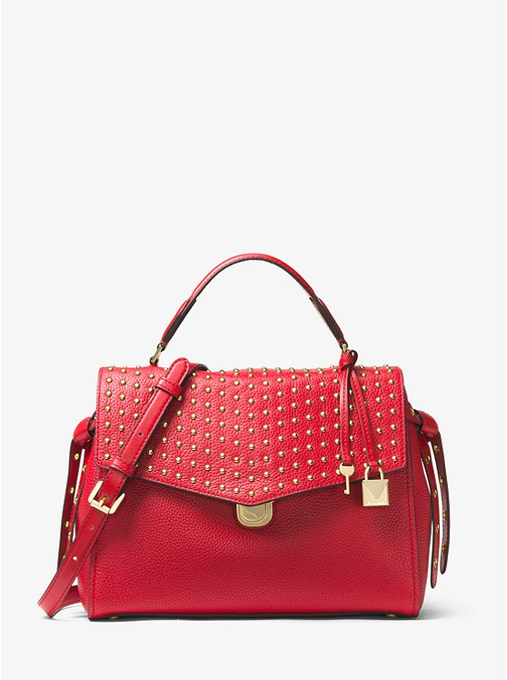 Bristol Studded Leather Satchel
