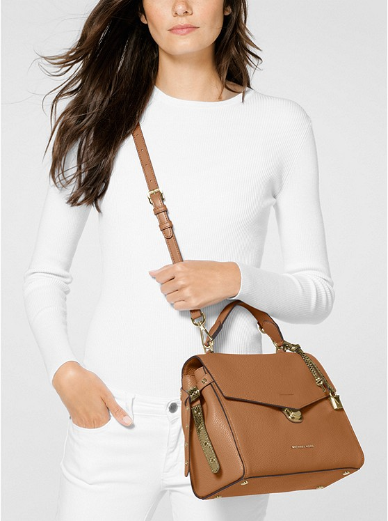 e0a63a03288ce5 Bristol Medium Leather Satchel | Michael Kors