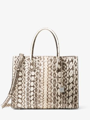 4d4d97528987 Mercer Large Snakeskin Tote Bag
