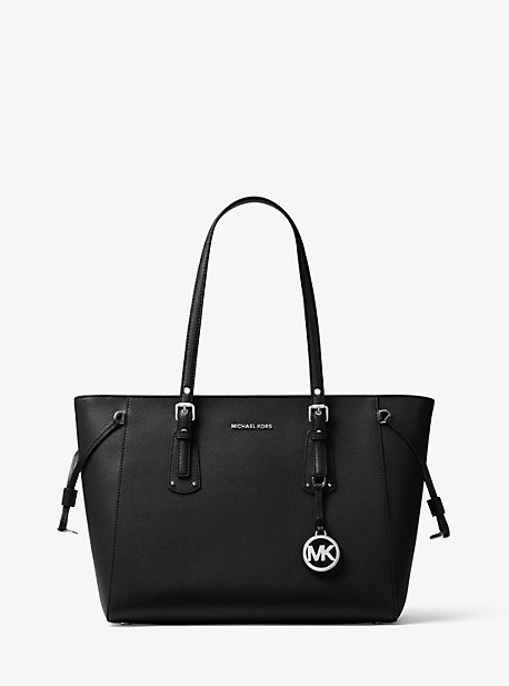3b0a981a8004 Voyager Medium Crossgrain Leather Tote Bag | Michael Kors