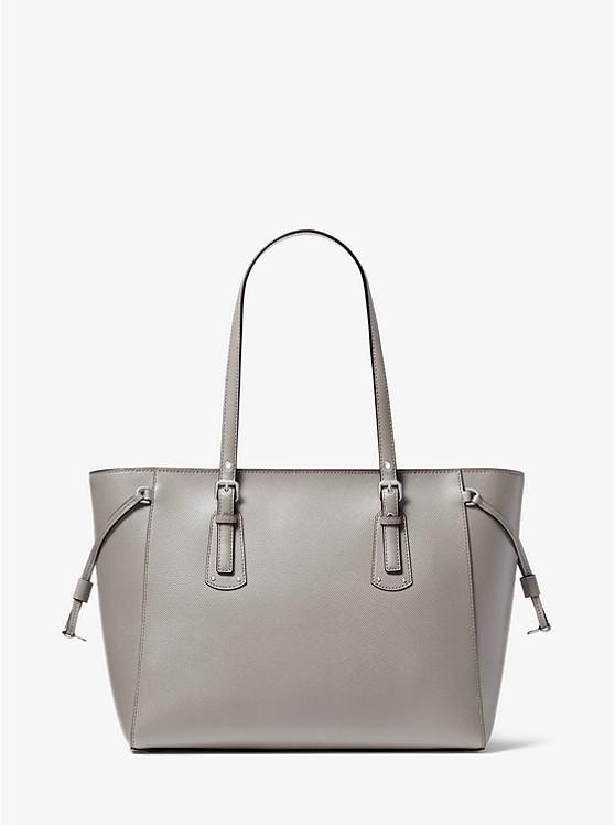c487a30f9049 ... Voyager Medium Crossgrain Leather Tote Bag. MICHAEL Michael Kors