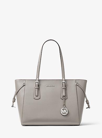 2ca9ac308 Voyager Medium Crossgrain Leather Tote Bag | Michael Kors