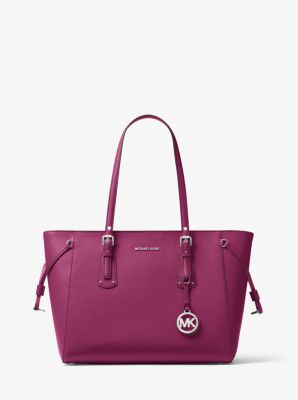 2ca9ac308 Voyager Medium Crossgrain Leather Tote Bag | Michael Kors