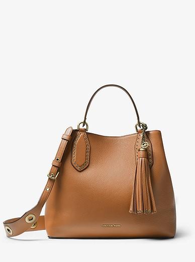 d71301a858b5 Brooklyn Large Pebbled Leather Satchel