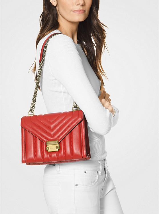 d422285a84b68f Whitney Large Quilted Leather Convertible Shoulder Bag   Michael Kors