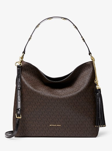 how to find professional top style Brooklyn Large Logo Shoulder Bag | Michael Kors
