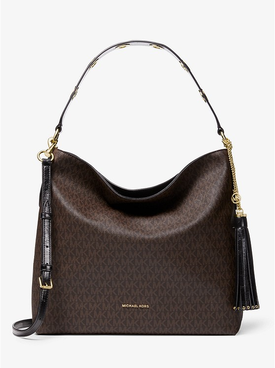 Brooklyn Large Logo Shoulder Bag by Michael Michael Kors