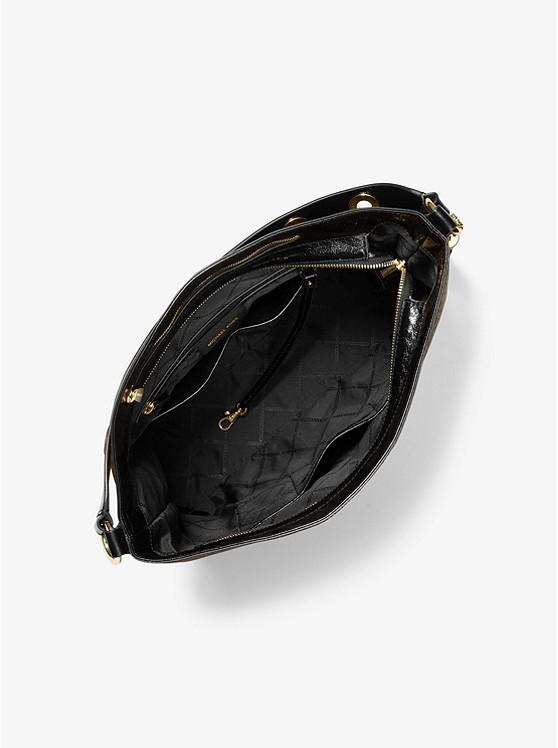 Brooklyn Large Logo Shoulder Bag BROWN/BLK