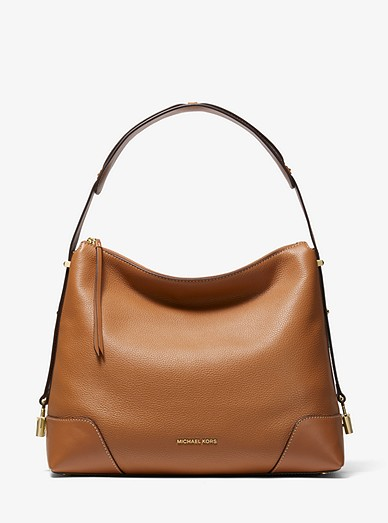 a53f187ab3e01 Crosby Large Pebbled Leather Shoulder Bag