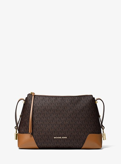 5dbe501fa937a0 Crosby Medium Logo Messenger | Michael Kors