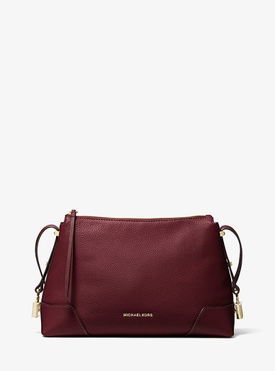 8cc7e157875cd Crosby Medium Pebbled Leather Messenger