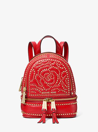 d4c72fa8e74a ... 50% off rhea mini rose studded leather backpack. michael michael kors  78ec6 6360a