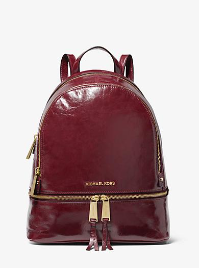 Rhea Medium Crinkled Calf Leather Backpack