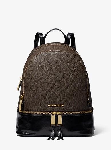 ba5e083fdff8c Rhea Medium Logo And Leather Backpack