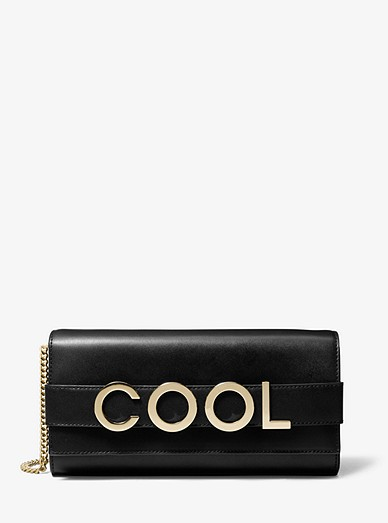 5b9e5d5426 Bellamie Embellished Leather Clutch | Michael Kors