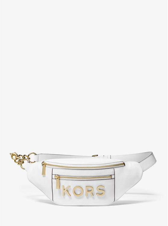 a01ada75805f Medium Embellished Leather Belt Bag | Michael Kors