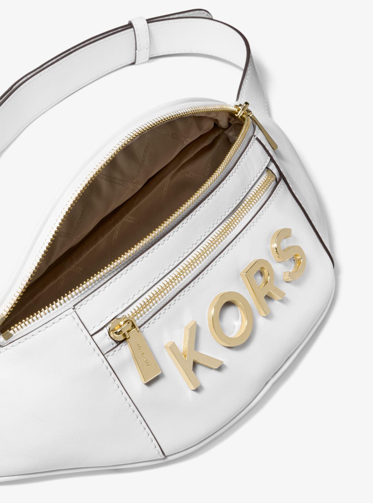 dc9285e391c6 ... Medium Embellished Leather Belt Bag. MICHAEL Michael Kors