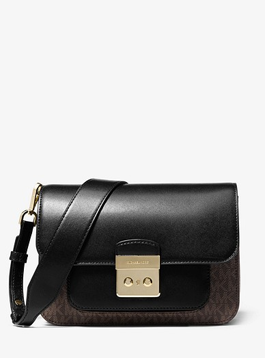 96ab6b355bf5f Sloan Editor Logo And Leather Shoulder Bag