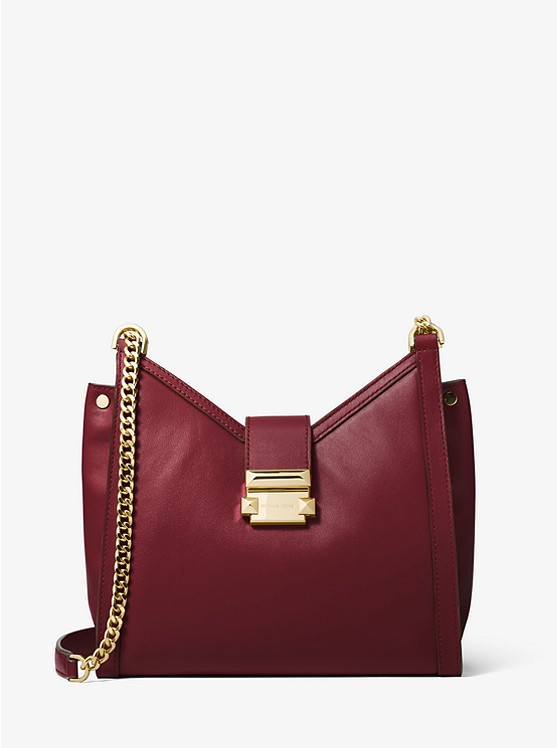 ac84047a9dee Whitney Small Leather Shoulder Bag   Michael Kors