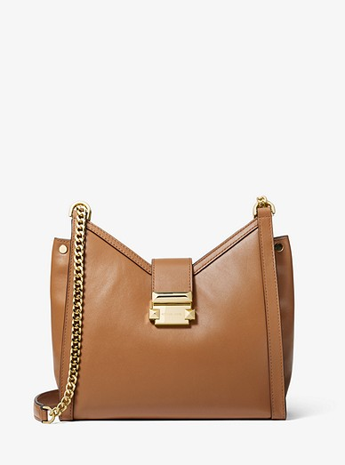 0119b4460c2836 Whitney Small Leather Shoulder Bag | Michael Kors
