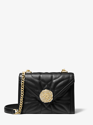df8a38596 Whitney Small Petal Quilted Leather Convertible Shoulder Bag. michael  michael kors ...
