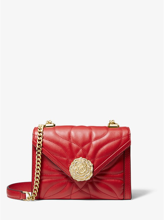3bdb780be2a1 Whitney Small Petal Quilted Leather Convertible Shoulder Bag ...