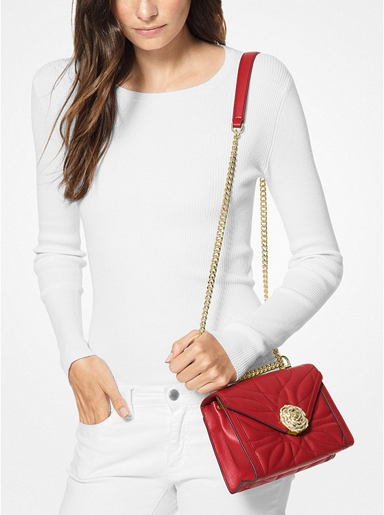 4262062da940 ... Whitney Small Petal Quilted Leather Convertible Shoulder Bag Whitney  Small Petal Quilted Leather Convertible Shoulder Bag. MICHAEL Michael Kors