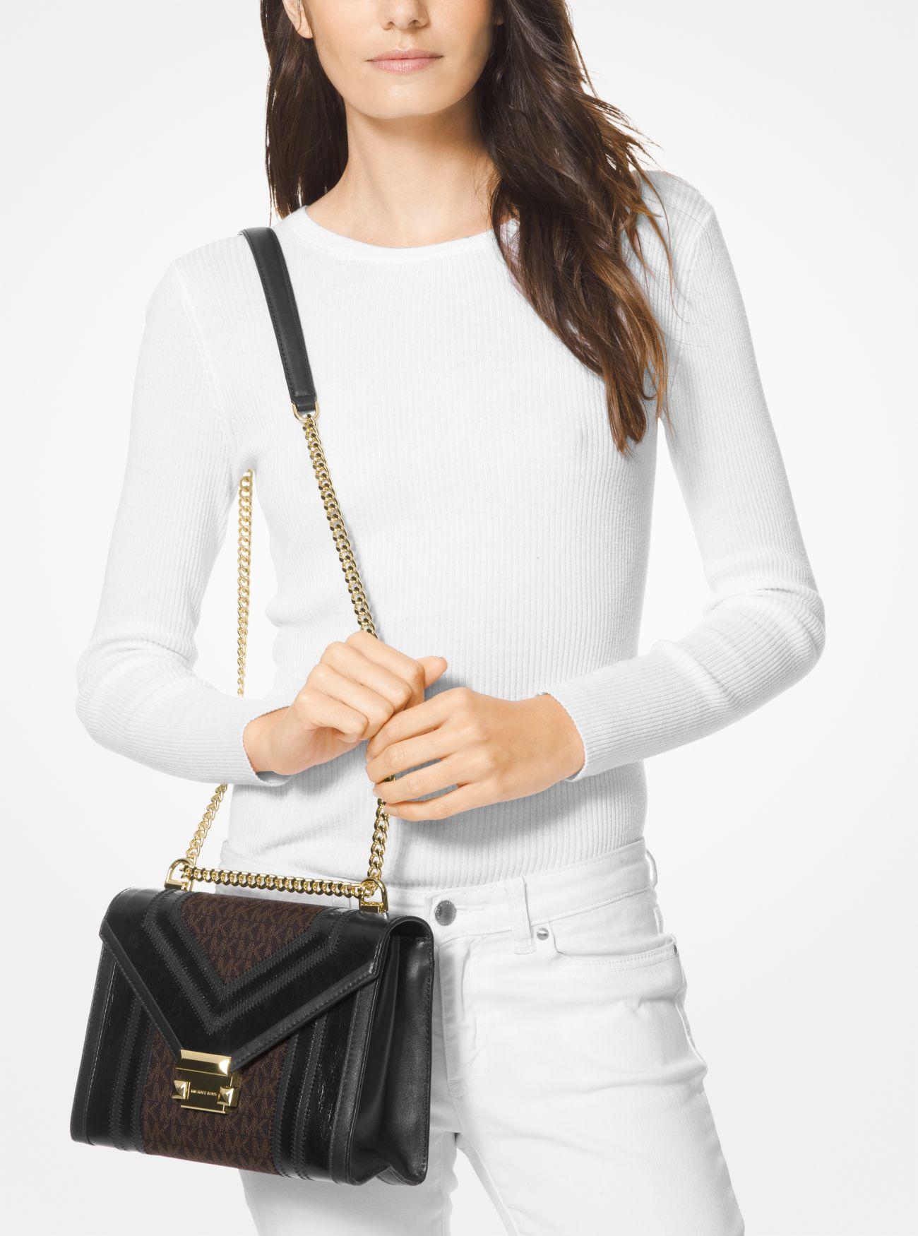 5aa62e2fba9e ... Whitney Large Logo Convertible Shoulder Bag. MICHAEL Michael Kors