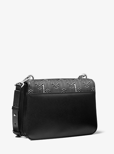 423e13687a33f1 Mott Large Metallic Deco Leather Crossbody Bag   Michael Kors