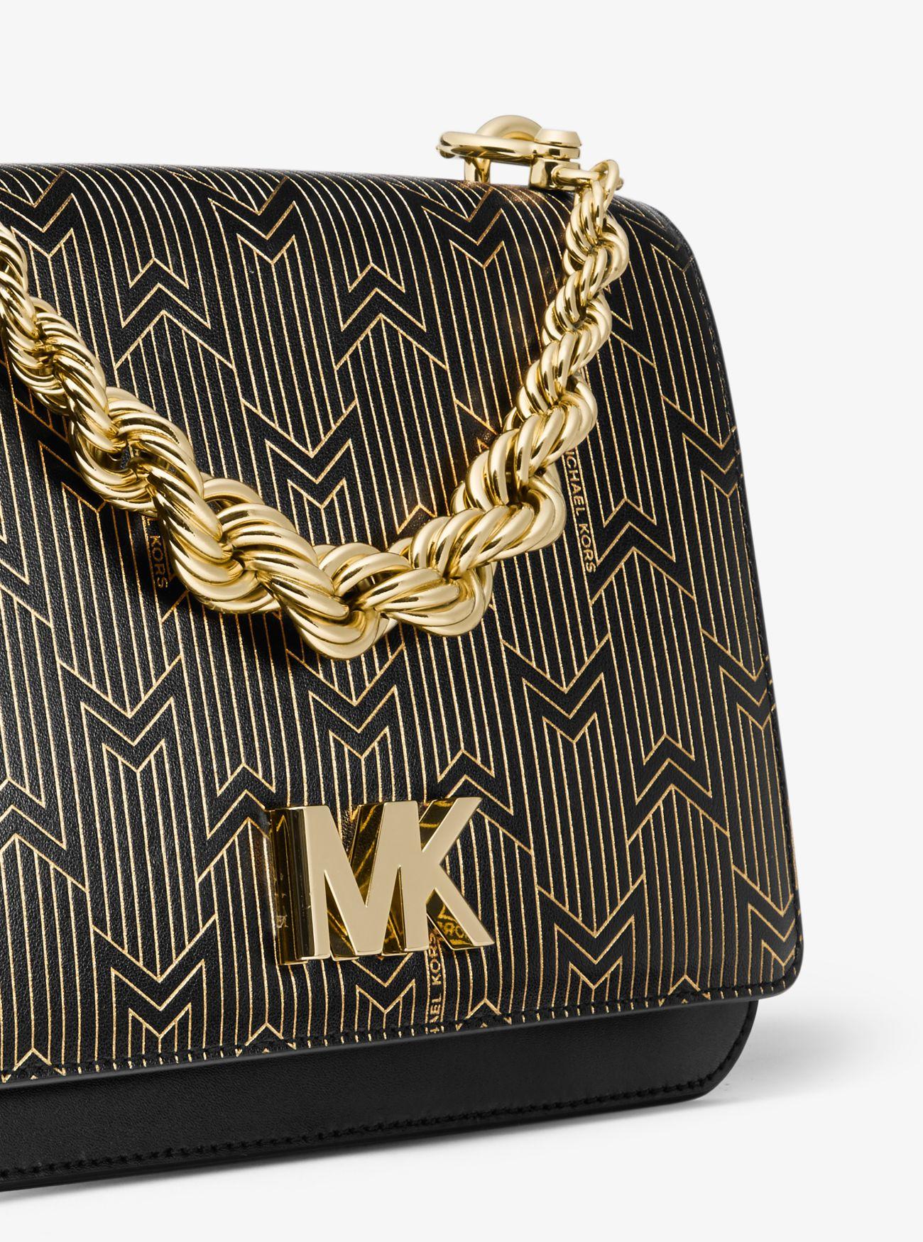 e463580f69ff ... Mott Large Metallic Deco Leather Crossbody Bag