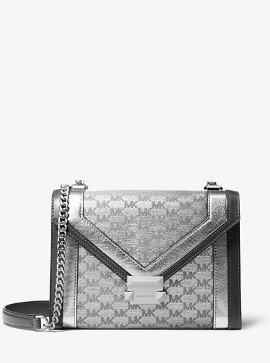 a97b7dd95 Whitney Large Metallic Logo Jacquard Convertible Shoulder Bag ...
